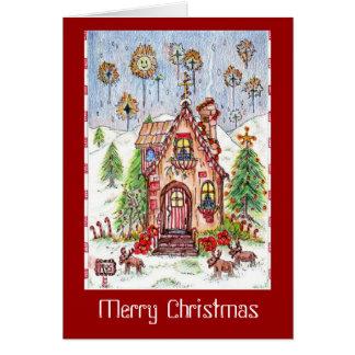 Cartão de nota da casa do Natal