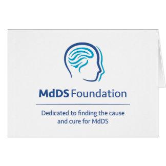 Cartão de nota da consciência de MdDS