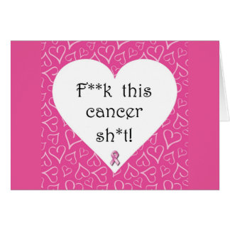 Cartão de nota da consciência do cancro da mama,