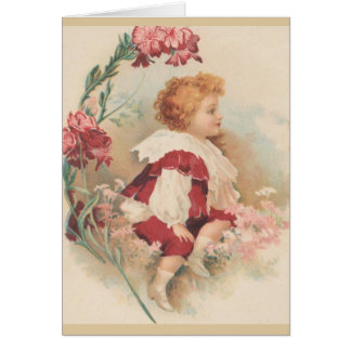 Cartão de nota da criança do Victorian