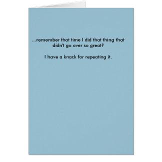 Cartão de nota da desculpa - curto