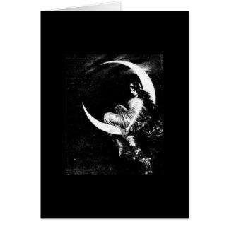 Cartão de nota da deusa da lua