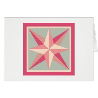 Cartão de nota da edredão - estrela chanfrada
