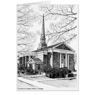 Cartão de nota da faculdade de Albion da capela de