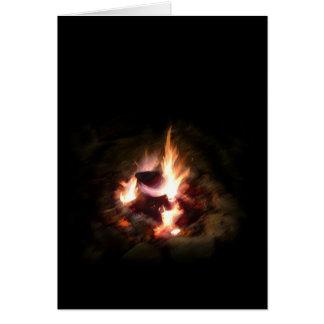 Cartão de nota da fogueira do feriado