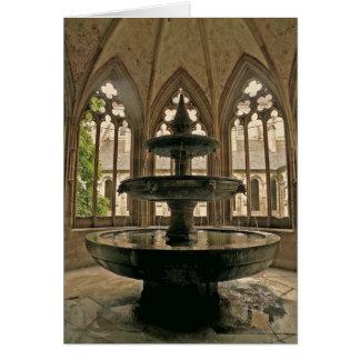 Cartão de nota da fonte do monastério