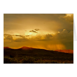 Cartão de nota da foto do por do sol do parque da