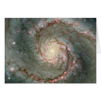 Cartão de nota da galáxia espiral do redemoinho