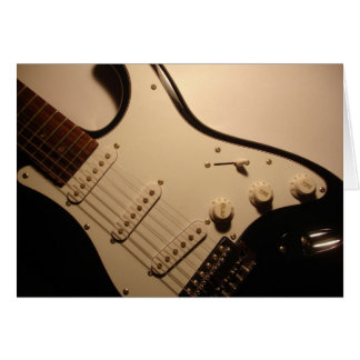 Cartão de nota da guitarra elétrica