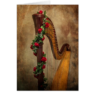 Cartão de nota da harpa