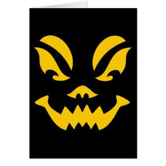 cartão de nota da Jack-o-lanterna