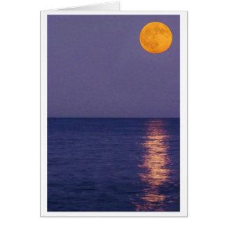 Cartão de nota da lua cheia