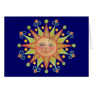 Cartão de nota da luz do sol