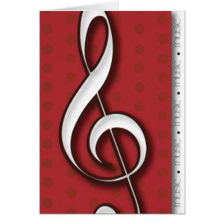 Cartão de nota da música do Clef de triplo