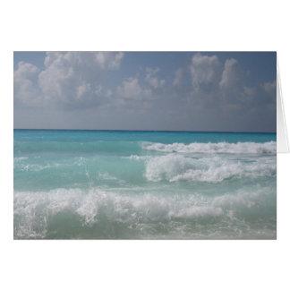 Cartão de nota da onda de Cancun