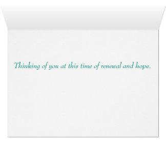 Cartão de nota da páscoa/primavera