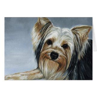 Cartão de nota da pintura a óleo da arte do cão do