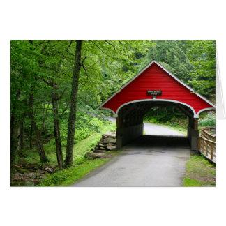 Cartão de nota da ponte coberta de New Hampshire