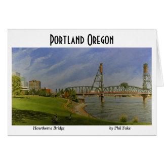 Cartão de nota da ponte de Hawthorne