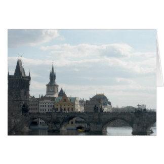 Cartão de nota da república checa de Praga da