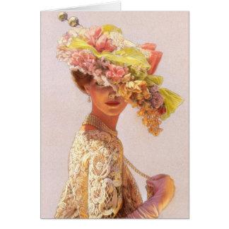 Cartão de nota da senhora Victoria