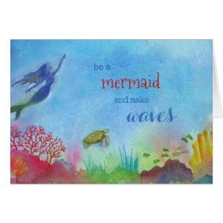 Cartão de nota da sereia