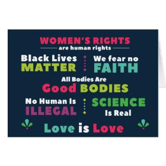 Cartão de nota da solidariedade