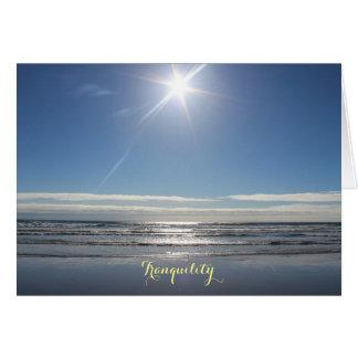 Cartão de nota da tranquilidade das ondas de