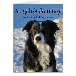 Cartão de nota da viagem de Angelo