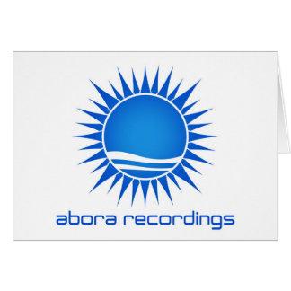 Cartão de nota das gravações de Abora (grande