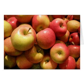 Cartão de nota das maçãs de Pensilvânia