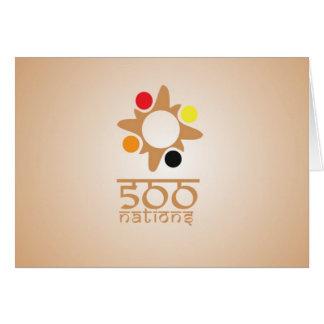 Cartão de nota de 500 nações