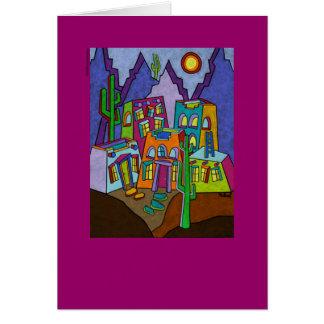 Cartão de nota de Adobe Desierto