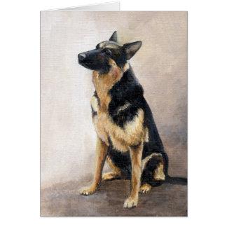 Cartão de nota de assento da arte do cão do german