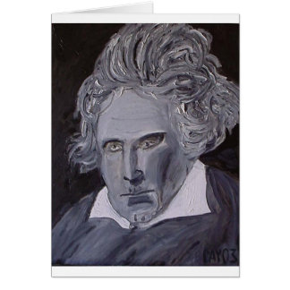 Cartão de nota de Beethoven