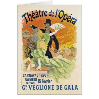 Cartão de nota de Carnaval 1896