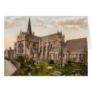 Cartão de nota de Dublin Ireland da catedral de St