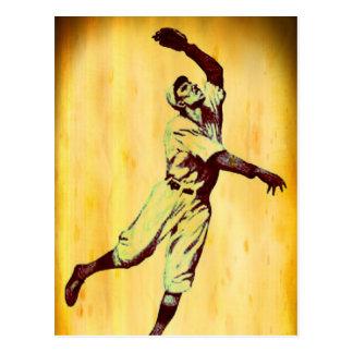 Cartão de nota de Fielfer do basebol do vintage