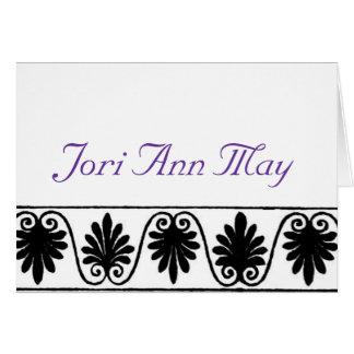 Cartão de nota de Jori