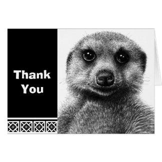 Cartão de nota de Meerkat