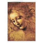 Cartão de nota de Scapigliata do La de da Vinci
