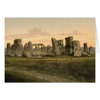 Cartão de nota de Stonehenge do vintage