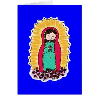 Cartão de nota de Virgen De Guadalupe