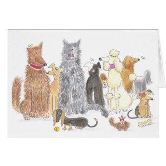 Cartão de nota delicioso dos cães