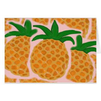 Cartão de nota do abacaxi (séries havaianas)