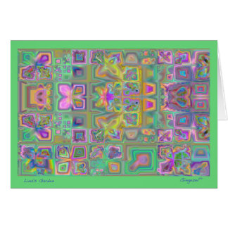 Cartão de nota do abstrato do jardim de Lina
