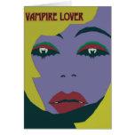 Cartão de nota do amante do vampiro