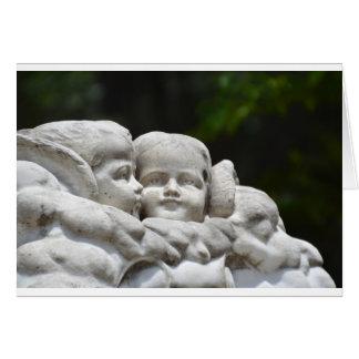Cartão de nota do anjo do cemitério de Bonaventure