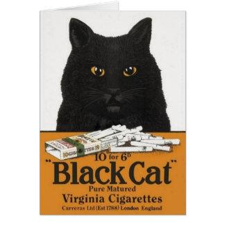Cartão de nota do anúncio do cigarro do gato preto