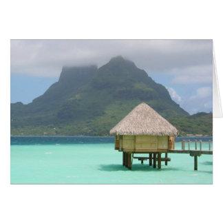 Cartão de nota do bungalow de Bora Bora